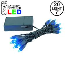 Battery Pack Lights For Wreath 20 Led Battery Operated Lights Blue Green Wire