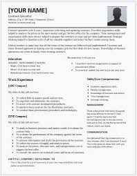 Contract Specialist Resume for MS Word