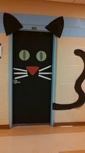 Black Cat Halloween Door Decoration