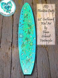 surfboard wall art plankton microscope with name surfboard wall art