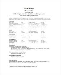 theater resume template 6 free word pdf documents download audition resume format