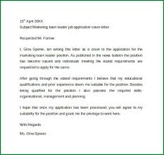 Covering Letter For Team Leader Barca Fontanacountryinn Com