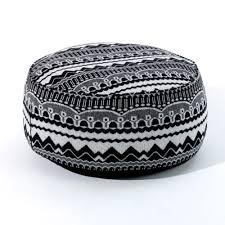 Black And White Pouf Arthur Pouffe Black Zig Zag Scp Furniture