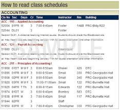 Sample College Class Schedule How To Read Class Schedules Reynolds Community College