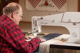 George longarm quilting machine   APQS & George Quilting with George Adamdwight.com