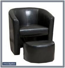 black leather tub chair argos