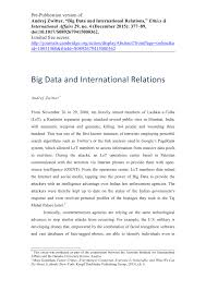 big data and international relations pdf available