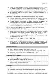Volunteer Work On Resume Charity Resume Samples Charity Resume Template Resume Template 62
