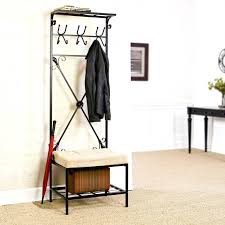 Coat Racks Lowes Entry Bench Rack Storage Bench With Coat Rack Lowes Canada Within 40
