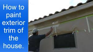 How To Paint Exterior House Trim Using A Spray Gun YouTube - House exterior trim