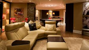 Bright Basement Family Room Design Ideas