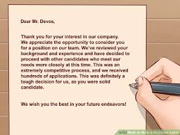en letter gothic letter 1 7 image how to write a rejection letter with sample letter wikihow patriotexpressus