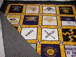 129 best College/NFL Quilts images on Pinterest | Beautiful, Black ... & This is my first attempt at a T-Shirt quilt. I loved the process Adamdwight.com