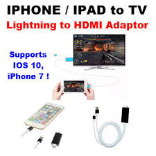 iphone to hdmi. lightning to hdmi hdtv tv cable adaptor for apple ipad iphone 7 5s 6 6s 2m iphone hdmi