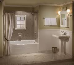 ... Large Bathroom, Modern Curtain Decor Wet Room Ideas With Marble Full  Wall Decor Also Custom Sing