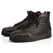 Louis Black Black Bk Leather Men Shoes Christian Louboutin