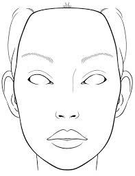 Blank Face Templates Simple Blank Face Outline 48 Desktop Backgrounds