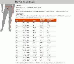 Mens Pant Measurement Chart Clothing United States