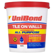 unibond advanced all purpose waterproof adhesive and grout with anti mould white 1 38kg image