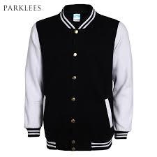 new high school baseball jacket men veste homme 2016 autumn mens fashion slim cotton varsity jackets casual brand college jacket coat jacket mens leather