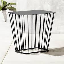 ingenious small end tables modern black cb2 wire side table round