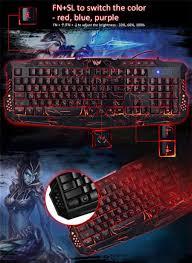 russian english bilingual usb gaming keyboard with 3 backlight