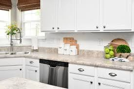 white cabinets laminate counters