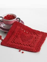 Sugar And Cream Knit Dishcloth Pattern Impressive Ravelry Heart Dishcloth Knit Version Pattern By Lily Sugar'n Cream