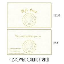 Free Gift Card Design Template Peanutstore Co