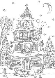 christmas house coloring pages.  Christmas Christmas House Coloring Page With Coloring Pages Supercoloringcom