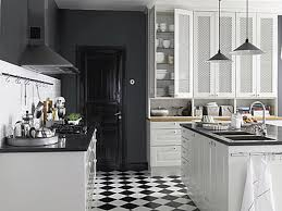 Black And White Tile Floor Kitchen Black And White Kitchen Inside