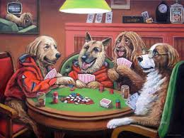 dogs playing painting dogs playing 3