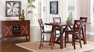 mango burnished walnut 5 pc counter height dining room inside table rooms to go prepare 3