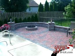 patio with square fire pit. Fire Pit Ideas Square Patio Brick Designs Design With .
