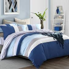 boys rugby stripe modern chic masculine simply full queen size bedding sets loading zoom