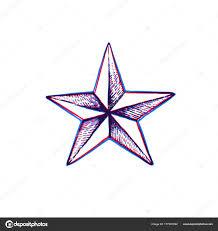 Vektor Rukou Nakreslené Hvězdy Shap Stock Vektor Trikona 177201092