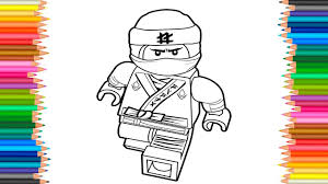 The Lego Ninjago Movie 2017 Lloyd Coloring Page Coloring Book Videos