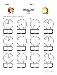 Collections of Clock Worksheets For Kindergarten, - Easy Worksheet ...