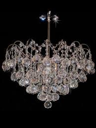 khi chrome 5 light crystal waterfall chandelier