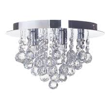 g9 galaxy flush ceiling light chrome