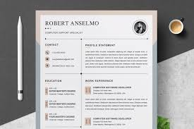 014 Free Modern Resume Cv Design Template Vector Ai Download