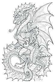 Realistic Dragon Coloring Pages Realistic Dragon Coloring Pages Hard