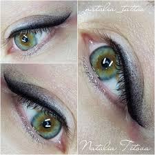 глазки сразу после процедуры татуажа татуаж глаза стрелки