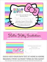 Fresh Hello Kitty Party Invitations And Birthday Invitation