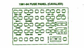 91 94 chevrolet cavalier sunbird fuse box diagram circuit wiring 2005 chevy cavalier fuse box diagram at 2004 Cavalier Fuse Box
