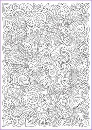 Zentangle Flowers Coloring Page For Adults Doodle Printable Pdf