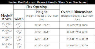 Fireplace Door Size Chart Pleasant Hearth Fieldcrest Glass Firescreen Midnight Black
