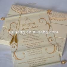 Handmade Stylish Unique Scroll Wedding Invitations Card Buy