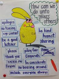 Friendship Chart For School Do Unto Otters Anchor Chart Classroom Management