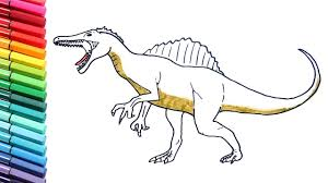 Small Picture Drawing and Coloring Spinosaurus Coloring Pages for Kids to